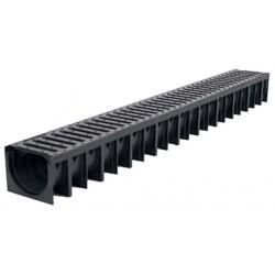 Odvodňovací žlab A15 s plastovou mříží 1,5t (1000x120x92mm)