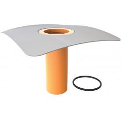 Nástavec pro svislé a vodorovné vpustě s integr. PVC manžetou