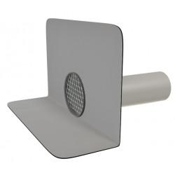 Chrlič kulatý s manžetou z PVC a ochr.mřížkou