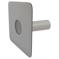 Pojistný přepad kulatý s manžetou z PVC a ochr.mřížkou, délka 600 mm (DN 125)