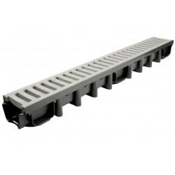 Odvodňovací žlab s PVC mříží 12,5t (1000 x 131 x 98 mm) B125