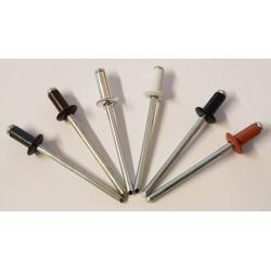 Nýt trhací s plochou hlavou hliník/ocel 4 x 8 mm RAL 9005