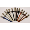 Vodotěsný trhací nýt s plochou hlavou 4 x 9,5 mm hliník/ocel RAL 3009