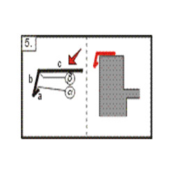 Lišta atiková - okapnice, 2m (r.š. 250 mm)