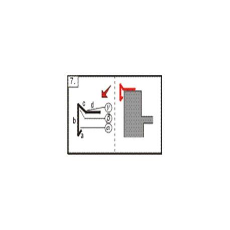 Lišta atiková - okapnice háková, 2m (r.š. 200 mm)