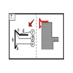Lišta atiková - okapnice háková, 2m (r.š. 250 mm)