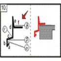 Závětrná lišta, 2m (r.š. 250 mm)