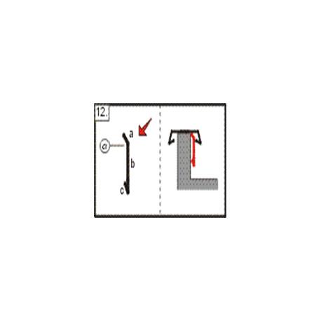 Lišta záklopná, 2m (r.š. 100 mm)