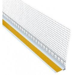 Začišťovací okenní profil (APU lišta) 6 mm s tkaninou 2,4 m