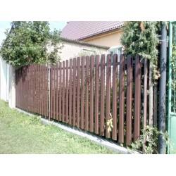 Plechová plotovka Dřevo dekor
