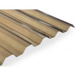 Polyvinylchloridová trapézová deska PVC HR (2000 x 1090 mm) bronz