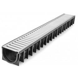 Odvodňovací žlab A15 s pozinkovanou mříží 1,5t (1000x120x92mm)