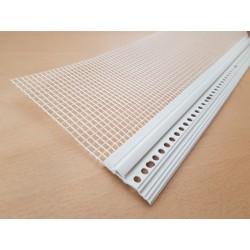 Okapnička soklových profilů s perlinkou 100 mm PVC 2,5 m