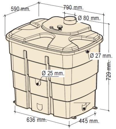 Nádrž na bodu WATERBOX 1