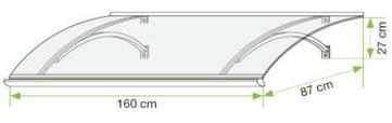 Stříška nad vchodové dveře Swing PC
